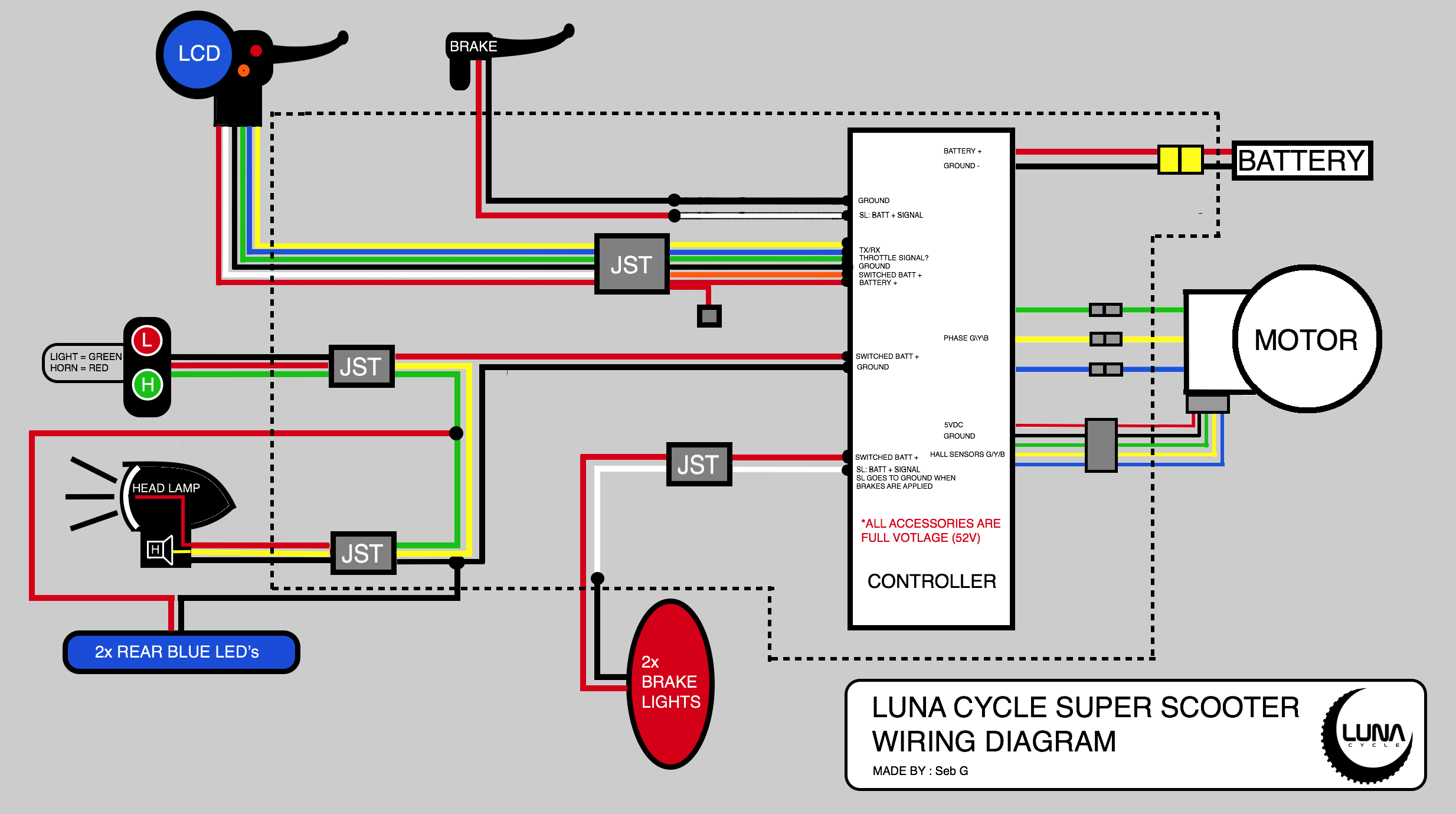 Super Scooter Wiring Diagram