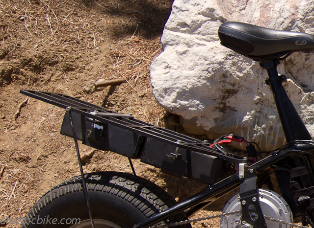 E Bikes Made In Usa The battery rack conveniently