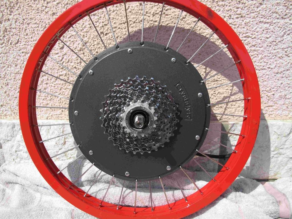 Crystalyte hub motor review electricbike com for Electric bike rear hub motor