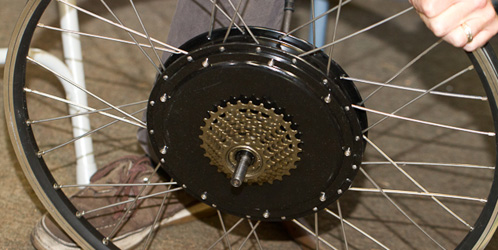 9C Rear hub with 7-speed freewheel