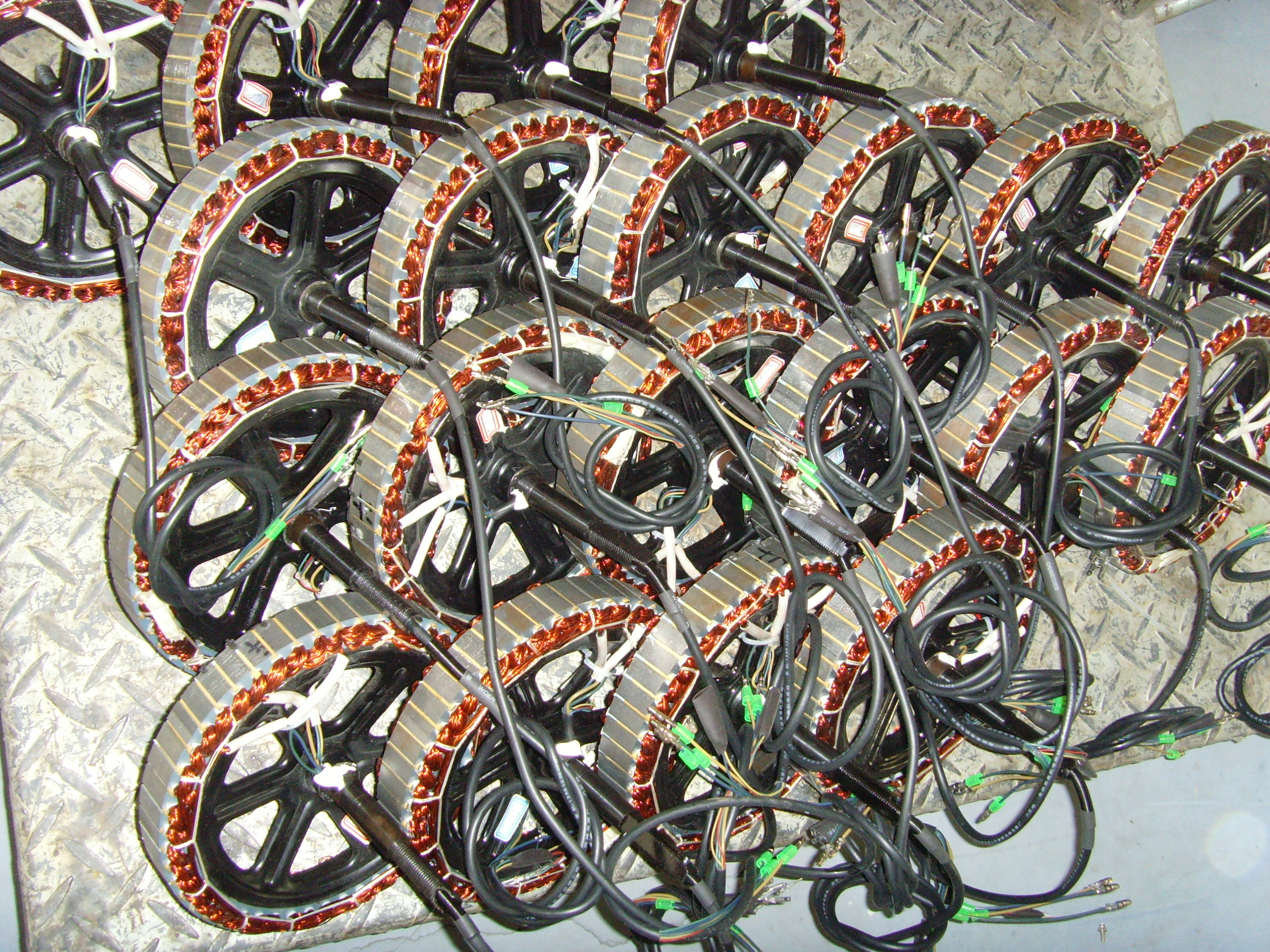 E bike hub motor factory tour in china electricbike com for Bicycles with electric motors