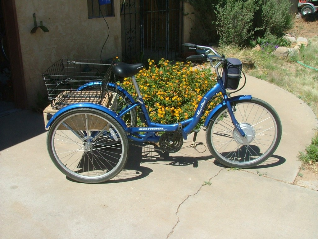 BD 36 on Schwinn trike