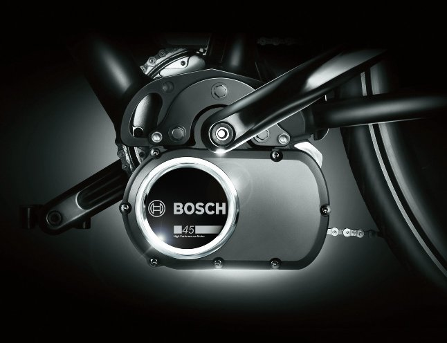 The Bosch-45 mid-drive unit.