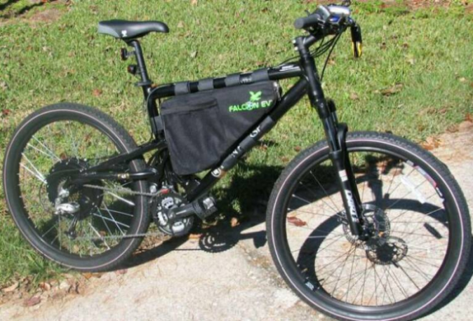 frame triangle bag from falcon ev it is made from a tough woven synthetic fabric and is well regarded in the e bike community - Mountain Bike Frame Bag