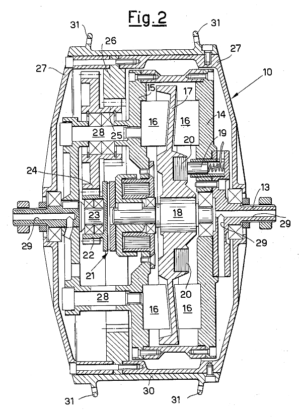 The 1985 bofelli hub-motor. This just might be an idea that should be revived...a 2-speed hub-motor!