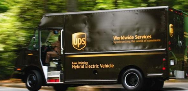 UPS is logging many miles with electric, hubrid, and natural gas powered vehicles.