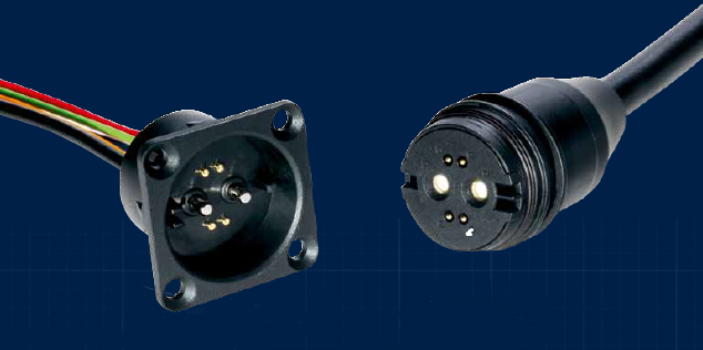An RoPD plug and socket pair.