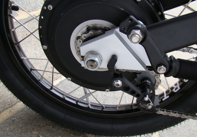 These custom drop-outs were needed to fit the Cromotor onto a