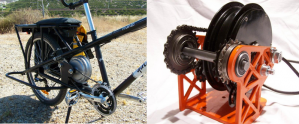 The Urbancommuterstore.com's M-drive, mounted here on the Yuba Mundo cargobike frame it was designed for.