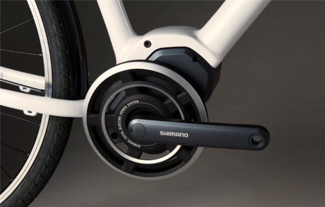 The Shimano STEPS mid drive system.