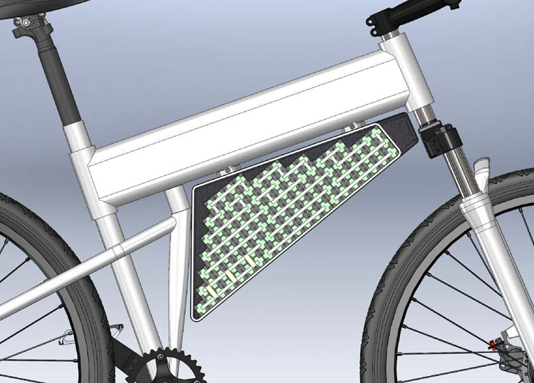 Ben modeled the pack during the design phase using the popular program Solidworks.