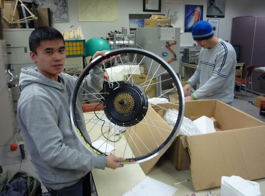 A couple students from the electromechanical lab from UC Davis.