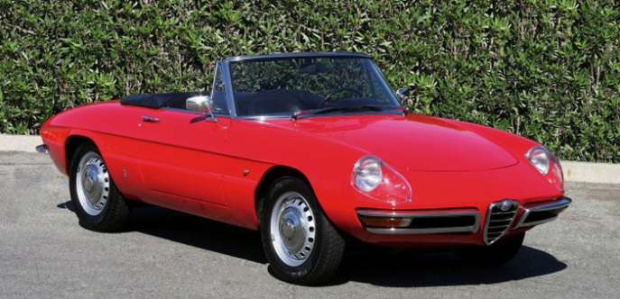 "The 1966-67 Alfa Romeo Duetto Spider, seen in the Movie ""The Graduate"""