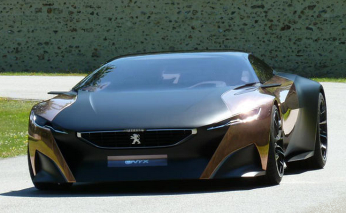 The Onyx diesel-hybrid sports car, from the Peugeot Design Lab.