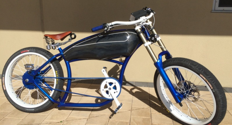 This is a custom-built electric cruiser bicycle from ... Custom Built Bicycle