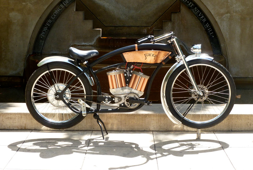 Juicer electric bikes are made in the vintage 1920 39 s style Best frame for motorized bicycle