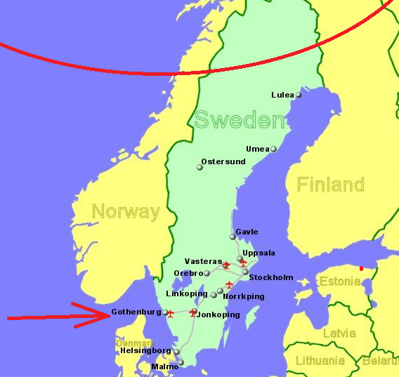 Sweden is in Northern Europe, a part of the Scandinavian region.